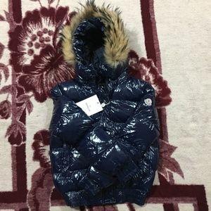 Women's Moncler Coat Jacket Blue
